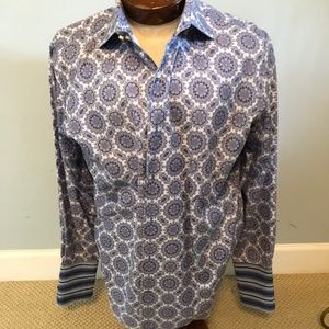 Banana Republic Blue-Gray Paisley /French Cuffs